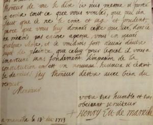 autographes-d-antan-Henry-de-BELSUNCE